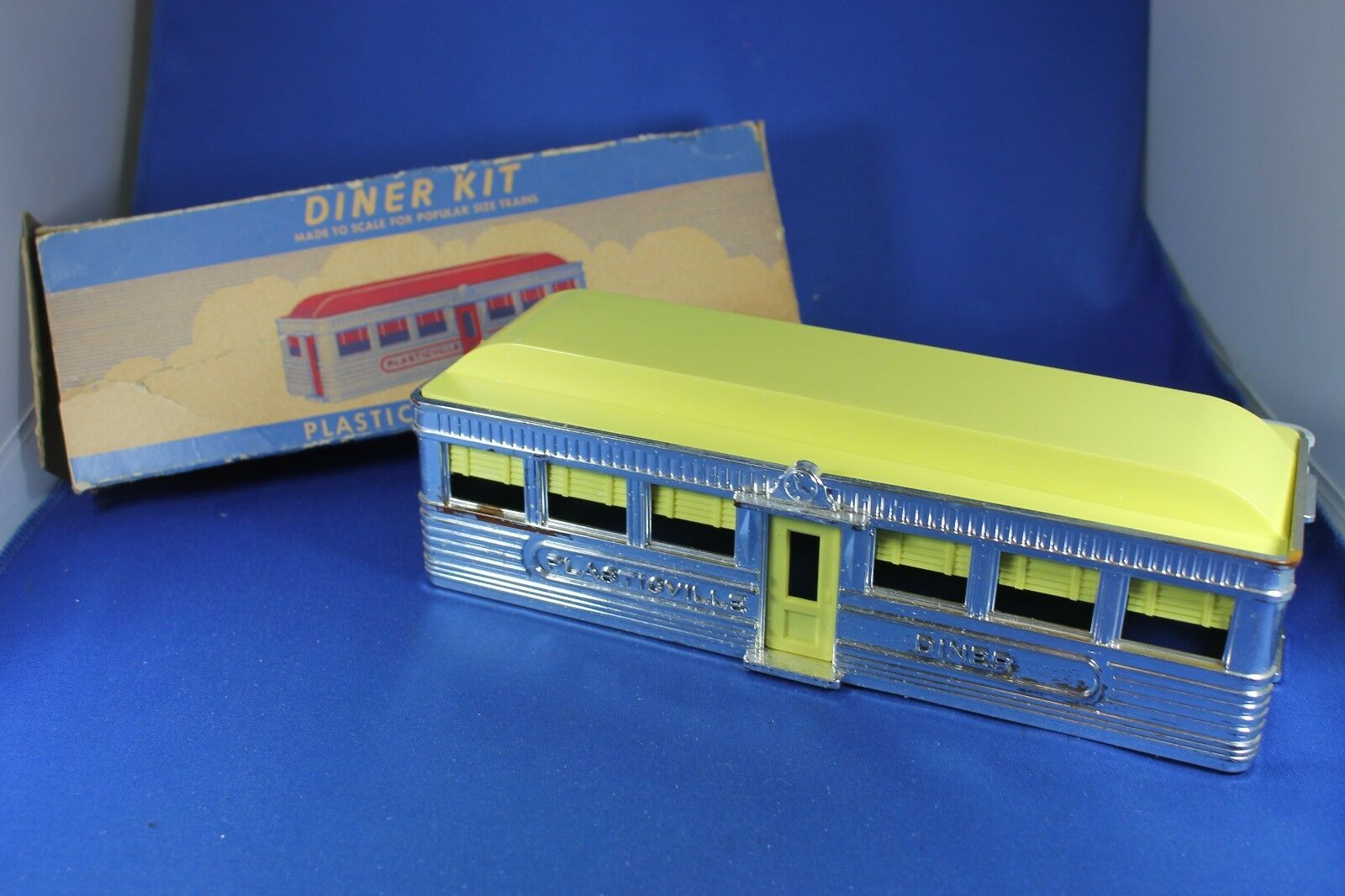 Plasticville - O-O27 -  DE-7 Diner - Chrome - Complete - Excellent Cond. Box