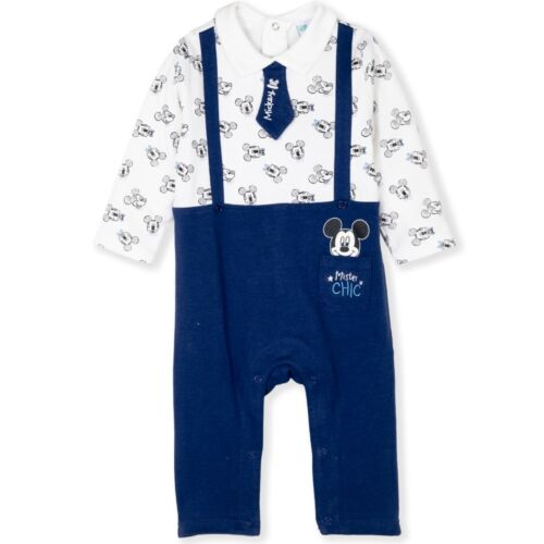 Disney Mickey Mouse Baby Boys Cotton Romper Playsuit Elegant Outfit 3-24 Mnts