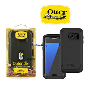 half off 8f6b6 6dc8f Details about Otterbox Defender Samsung Galaxy S7 edge Rugged Case  w/Holster Belt Clip (Black)