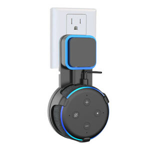 Outlet-Wall-Mount-Hanger-Holder-for-Amazon-Echo-Dot-3rd-Generation-Black