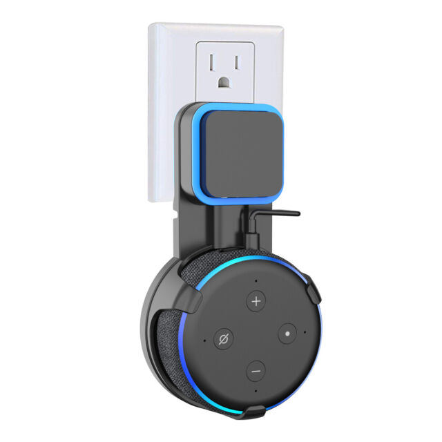 Outlet Wall Mount Hanger Holder for Amazon Echo Dot 3rd Generation Black
