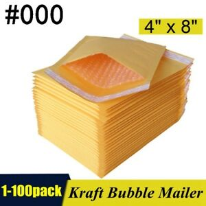 000-4-034-x8-034-Kraft-Self-Seal-Bubble-Mailer-Padded-Envelopes-4x8-inch-1-100-pack