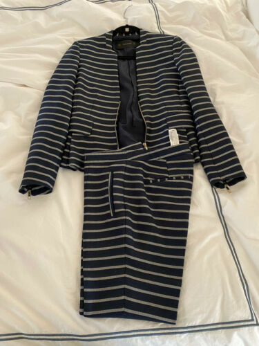 Zara Blazer (S) & Pants (M) Suit Set Black Pinstr… - image 1