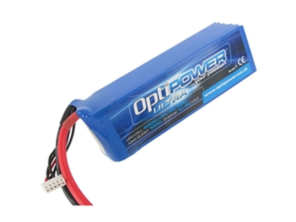 Optipower Ultra 50C Lipo Cell Battery 4000mAh 6S 50C