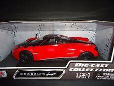 Motormax Pagani Huayra Red with Black Wheels 1/24