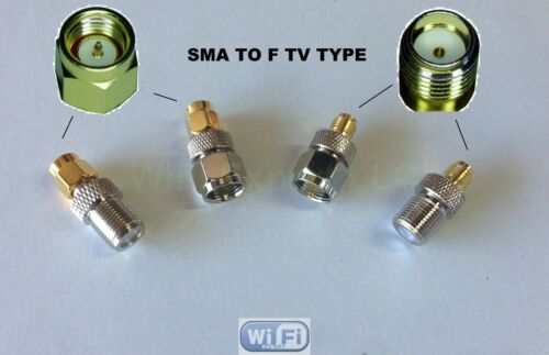 4pc//set RF coaxial adapter connector Kit F TV Male Female to SMA Male Female
