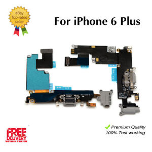 sale retailer 1a06f 986e6 Details about FOR iPhone 6 Plus Charging Dock Port & Mic & Headphone Jack  Flex Cable Black