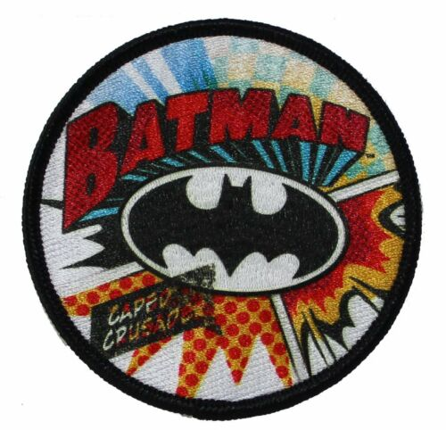 """Batman Burst Iron On Patch 3/"""" Free Shipping Officially Licensed P-DC-0074"""