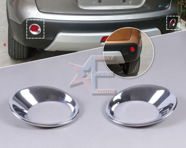 Chrome Rear Fog Lights Lamp Mask Cover Molding Trim for Nissan Qashqai 07-12