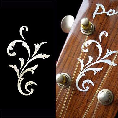 Small Vine (White Pearl) Inlay Stickers Decal Headstock Peghead Ukulele Mandolin