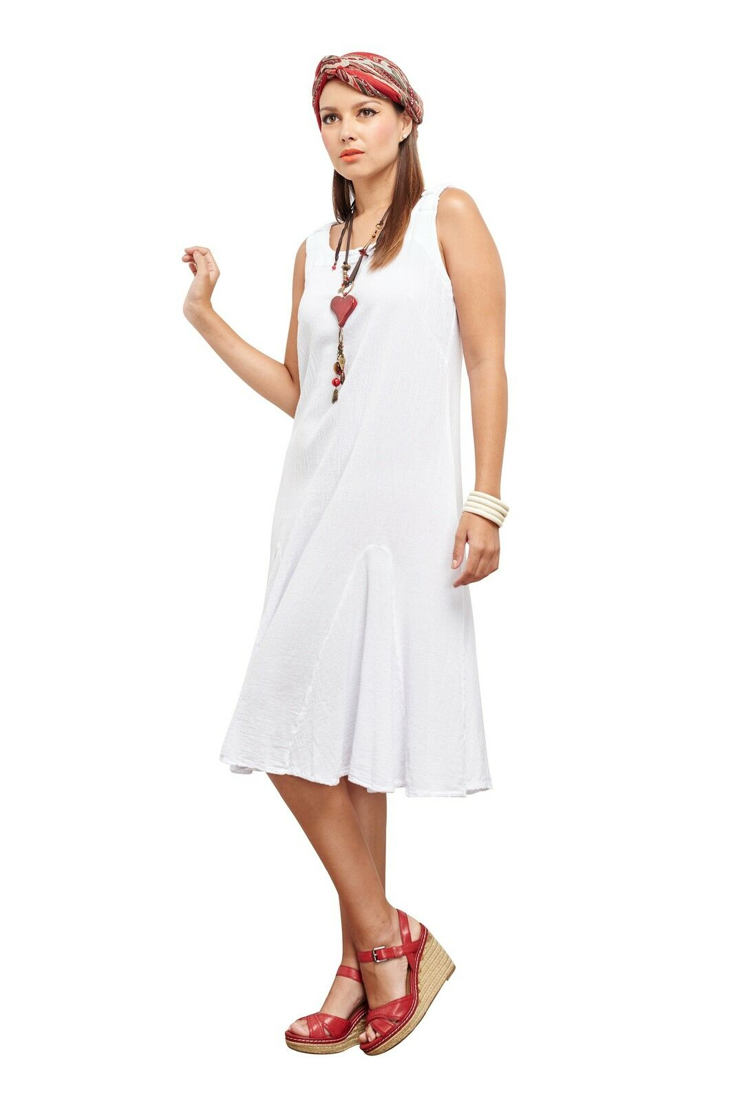 Oh My Gauze Lucy Dress Lagenlook Casual 100% 100% 100% Cotton 7c29a2
