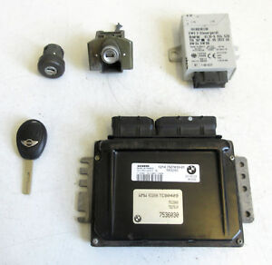 Details about Genuine Used MINI ECU + Lockset for R53 Cooper S 2003 W11  Manual - 7536030 #87
