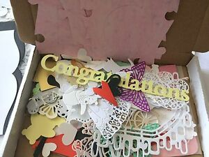 Box with a large amount mixed colour card shape die cuts Tattered Lace etc box 2 - HOUGHTON  LE SPRING, United Kingdom - Box with a large amount mixed colour card shape die cuts Tattered Lace etc box 2 - HOUGHTON  LE SPRING, United Kingdom
