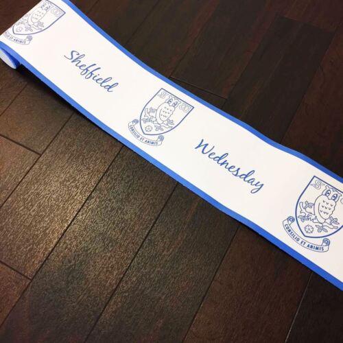 Sheffield Wednesday Wallpaper Border Football Official Merchandise Bleu Blanc