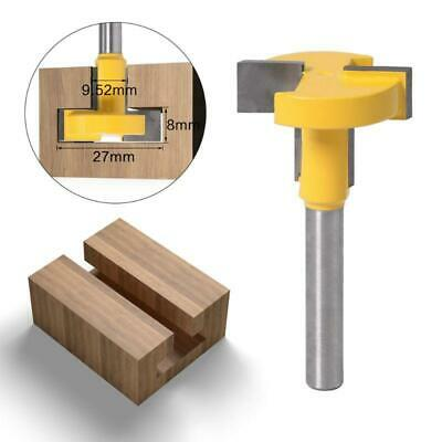 8mm 1//2 Inch Shank T-Slot T-Track Straight Edge Slotting Tongue and Groove Router Bits 8mm