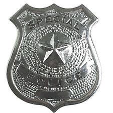 Badge Insigne SPECIAL POLICE FBI Métal ARGENTE 6X6.5 CM Déguisement POLICIER 302