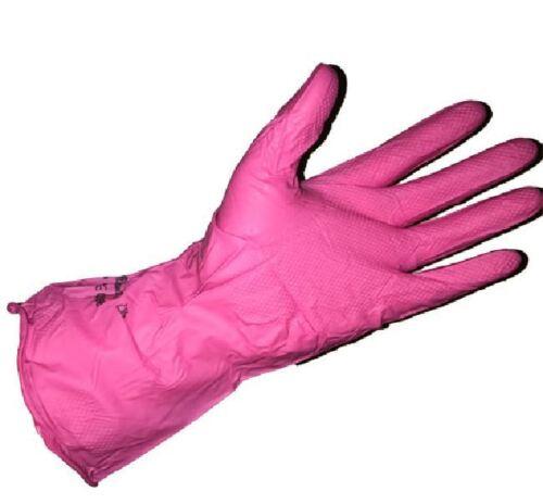 Marigold Puretough P12P Pink Super Light Weight Household Rubber Gloves M L XL