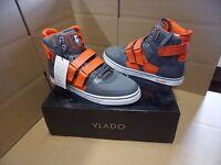 Vlado Footwear Men's Knight Ii Grey / Orange Hightop Shoes