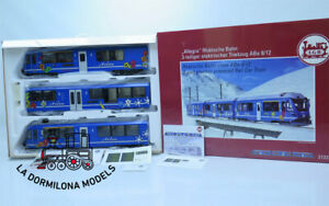 LGB-21225-DIGITAL-RhB-Class-ABe-8-12-034-Allegra-034-Powered-Rail-Car-Train-Arosa