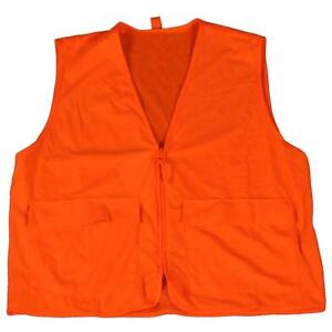 GAMEHIDE DEER CAMP VEST BLAZE ORANGE MEDIUM