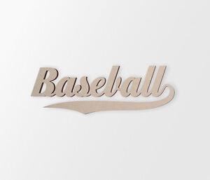 "Baseball Wall Hanging Word Cutout ""Baseball"" - Cutout, Home Decor, Unfinished"