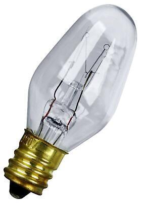 Feit Electric BP7C7//W//4 7-Watt C7 Night Light Bulb with Candelabra Base White 4 Pack