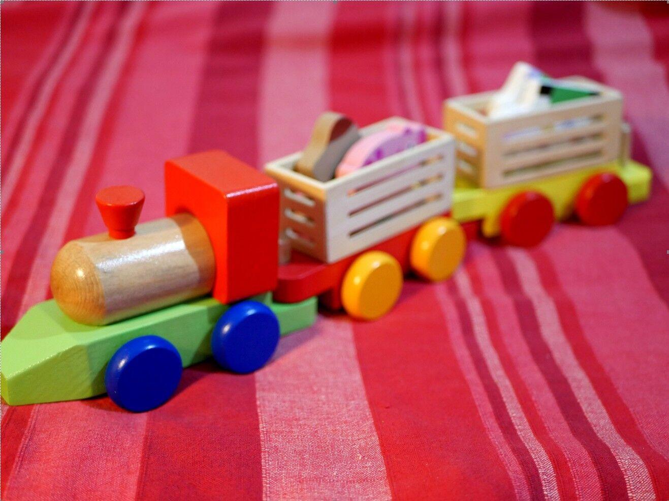 Juguete de madera - Tren - niños 3 3 3 a 6 años  envío gratuito a nivel mundial