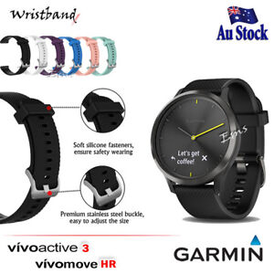39675111013 Image is loading Wristband-Adjustable-Silicone-Wrist-Band -for-Garmin-Vivoactive-