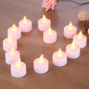 Image Is Loading Flameless Candles Tealight Flickering Wedding Decor Home Light