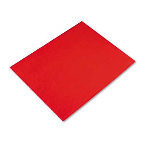 """Pacon Colored FourPly Poster Board, 28 X 22, Red, 25carton"""