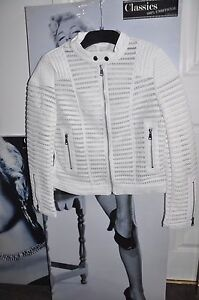 cappotto Fit elasticizzato Giacca Hearts Siz L mesh slim m queen Paris donna da Bianco fYAnwnqRB