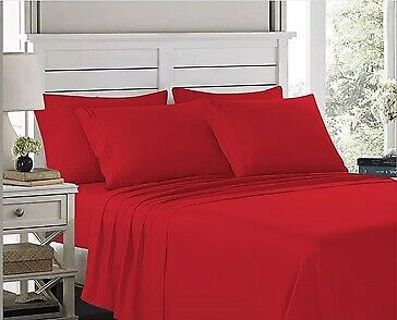 Egyptain Comfort 1900 Count Luxury 4 Piece Bed Sheet Set Deep Pocket Bed Sheets