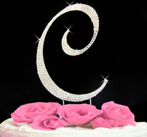 image is loading large rhinestone crystal monogram letter c wedding cake