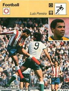 FICHE CARD : Luís Edmundo Pereira BRAZIL BRÉSIL FOOTBALL 70s