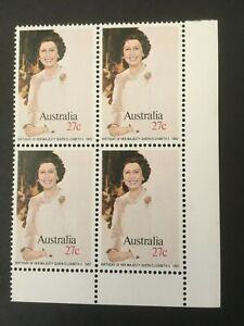 1982-Birthday-of-Her-Majesty-Queen-Elizabeth-II-MUH-Corner-Block-of-4
