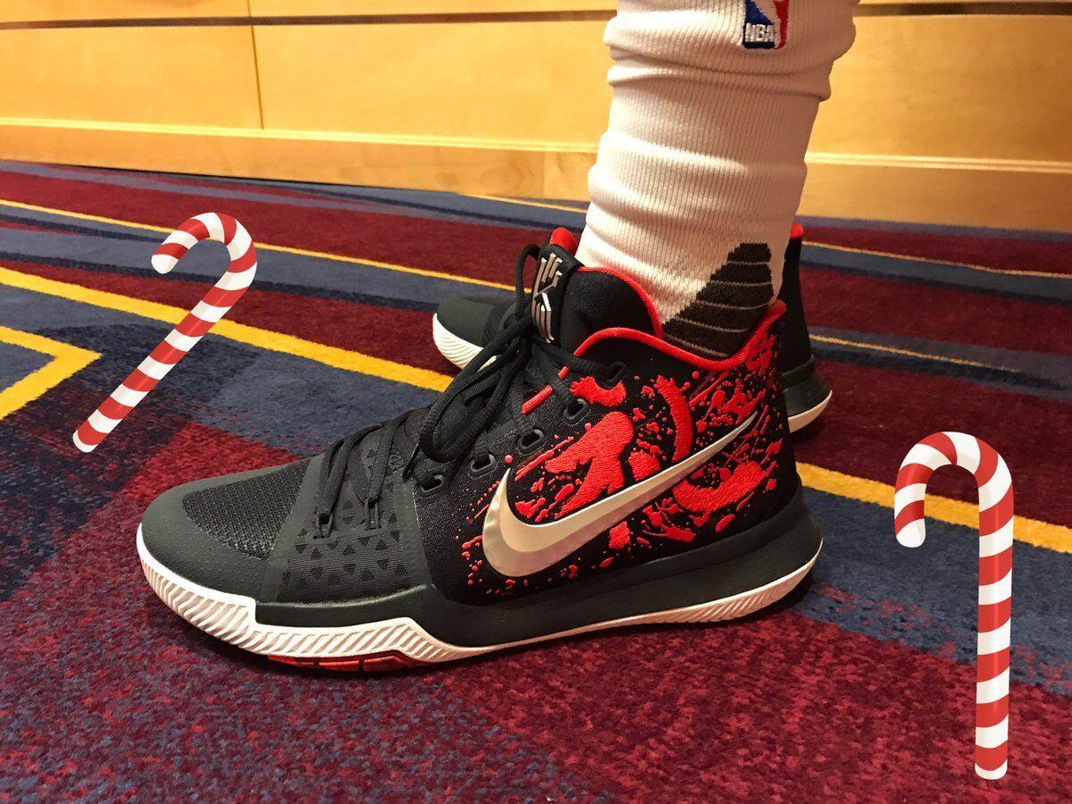 Nike Kyrie 3 Samurai Christmas Mystery Release Size 10. 852395-900 Jordan Kobe