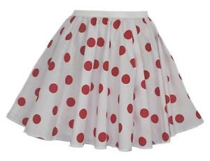Childs-White-amp-Red-Comic-Relief-15-034-Skater-Skirt-Full-Circle-Red-Nose-Day