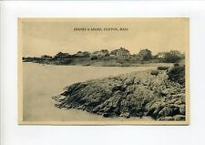 Clifton (Marblehead) MA Mass Houses and Shore, 1919 antique postcard