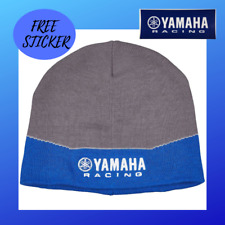 YAMAHA Racing Beanie Blue Gray White 100/% Knitted Cotton MX SXS CRP-16BYR-BL-NS