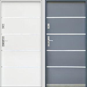 porte d 39 entr e en acier ext rieure 2070x890 2070x990 inox blanc anthracite ebay. Black Bedroom Furniture Sets. Home Design Ideas