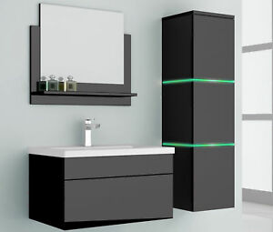 4 Teiliges Waschplatz Badmobel Komplettset Mit Led Beleuchtung