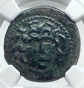 AMPHIPOLIS-Macedonia-148-31BC-Ancient-Greek-Coin-GORGONEION-ATHENA-NGC-i77633