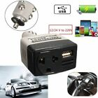 Car Mobile Converter Inverter Adapter DC 12V/24V to AC 220V Charger Power + USB