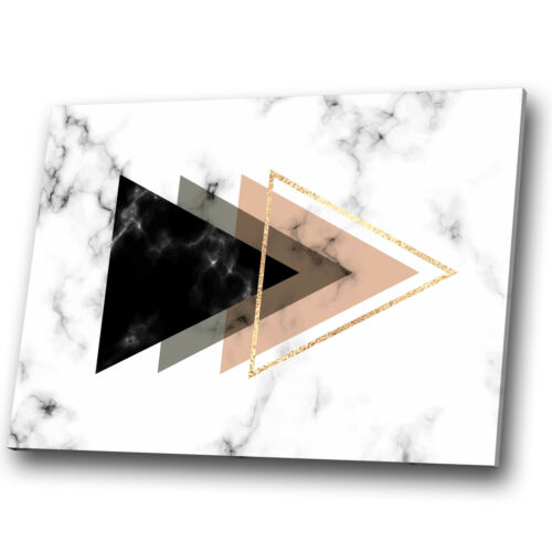 Pink Black White Grey Marble Abstract Canvas Wall Art Large Picture Print