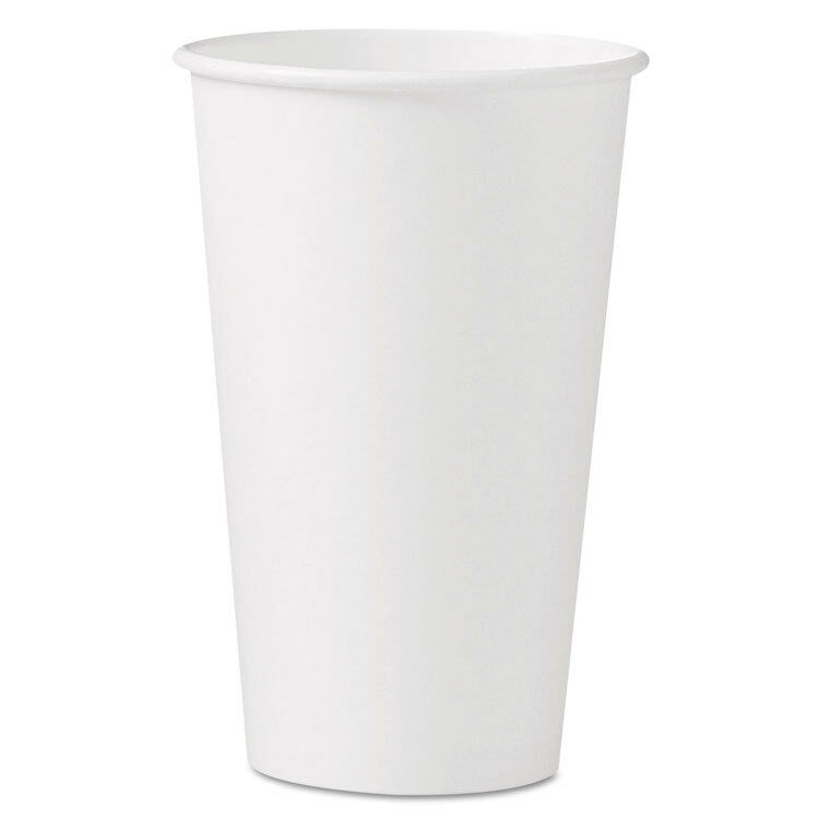 SOLO Polycoated Hot Paper Cups 16 oz White 316W