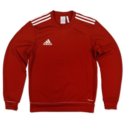 Adidas Performance Men/'s Ess 3 S Swt Top Sweatshirt Sweater Pullover Red