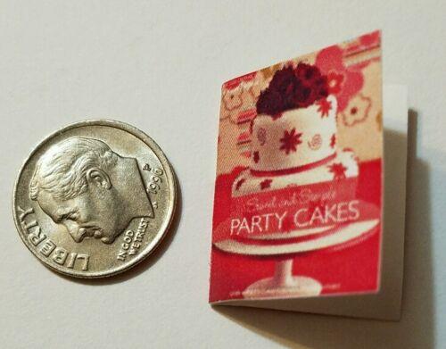 Miniature Dollhouse CookBook Barbie 1//12 Scale  Cake Party Cakes Crocker