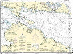NOAA Chart Straits of Mackinac 33rd Edition 14880