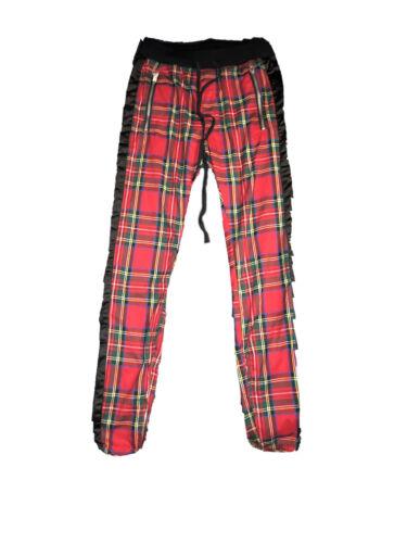 mnml plaid track pants