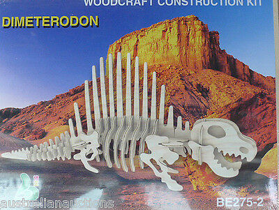 DIMETERODON DINOSAUR WOOD 3D PUZZLE EDUCATIONAL & FUN FOR ALL AGES